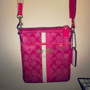 Authentic pink cross body coach.